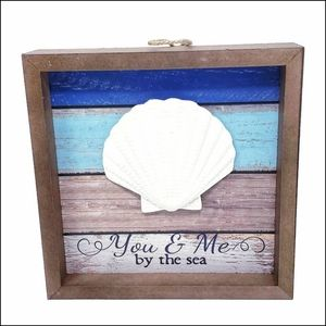 Sale! Last 1 Left! Framed Tabletop Sea Shell Sign